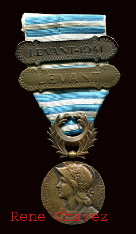 Vichy Commemorative Levant 1941 Medal
